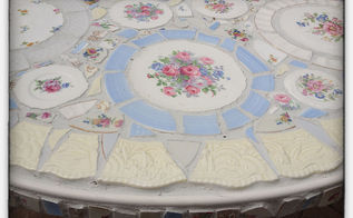 mosaic table and chairs, home decor, painted furniture, tiling, Focal of Mosaic Table