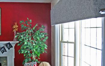A High End Look for Less: Foam Board Cornice Window Treatment