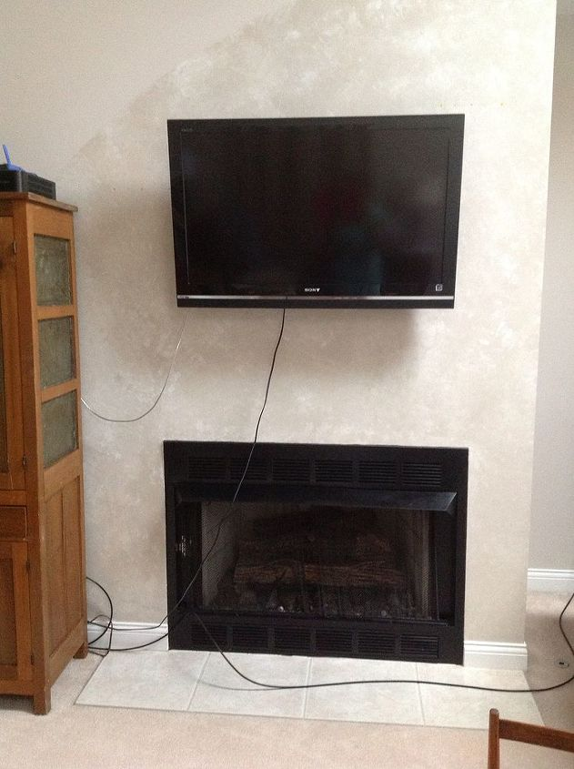 tv mounted above fireplace, fireplaces mantels, home maintenance repairs, lighting