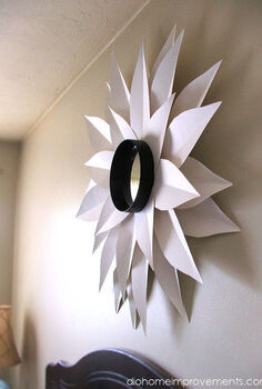 diy sunburst mirror, crafts, home decor