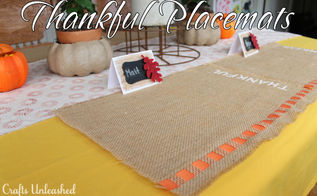 thanksgiving thankful placemats, crafts, seasonal holiday decor, thanksgiving decorations, The Thanksgiving Thankful place mats on my entire Thanksgiving tablescape tutorials for the the items available