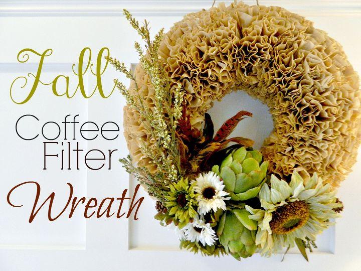 autumn coffee filter wreath, crafts, seasonal holiday decor, wreaths