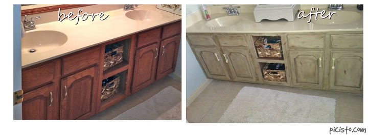 bathroom vanity makeover with annie sloan chalk paint chalk paint kitchen cabinets painted bathroom vanity before and after - Painted Bathroom Cabinets Before And After