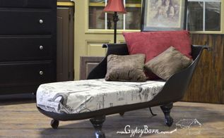 clawfoot tub to chaise lounge, painted furniture, repurposing upcycling, The finished look Added the French themed fabric to add that tie together feel for the entire room There is a full album being uploaded right now to my Facebook page at Come join the fun