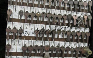 old keys and wind chimes, crafts, Old keys