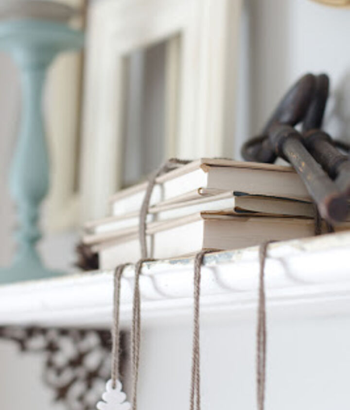 Wrap books in kraft paper and tie up with twine to add a little character.