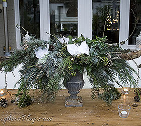 christmas outdoor decor outdoor living seasonal holiday decor this centerpiece was built with