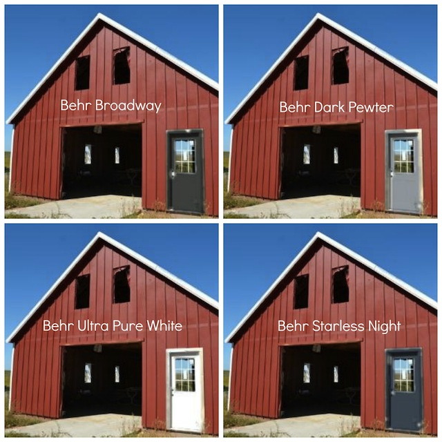 Which Color Would You Choose For The Door Garage Will Be A Red