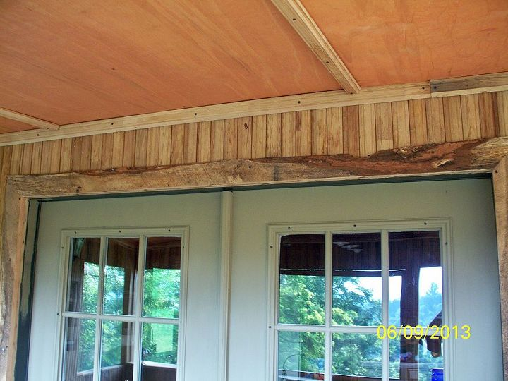 check out the door frame - made from rough lumber