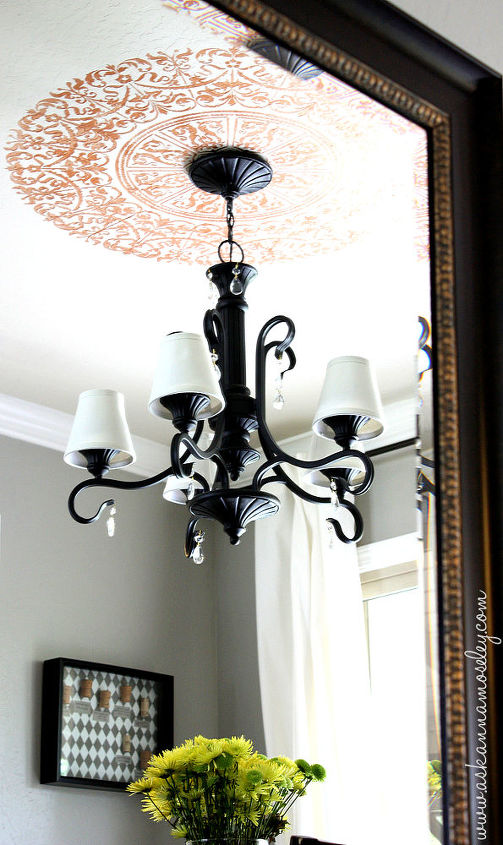 simple and inexpensive chandelier makeover, lighting, painting