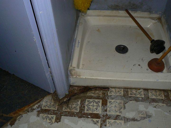 The floor was in very bad shape