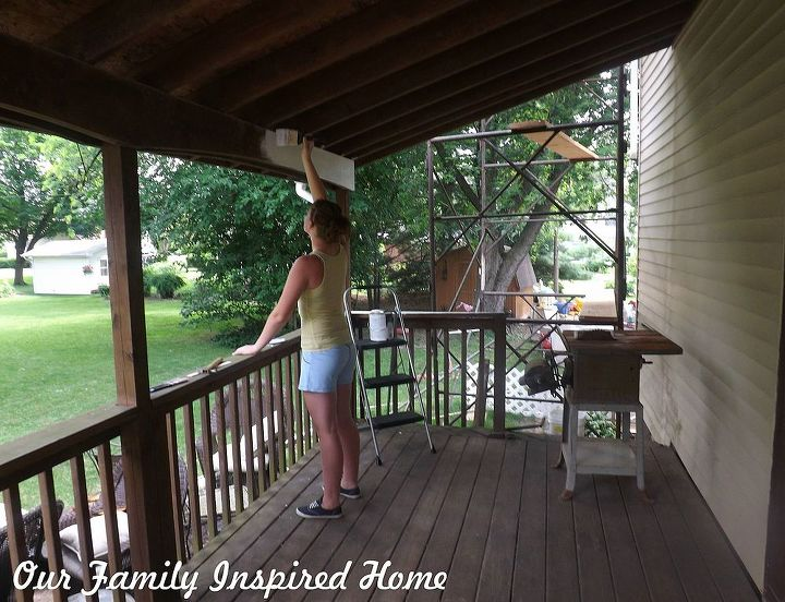 side porch inside reveal, curb appeal, diy, outdoor living