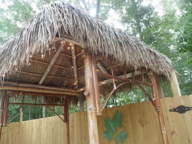 Brand new DIY Outdoor Tiki Hut using Repurposed Materials | Hometalk XS04
