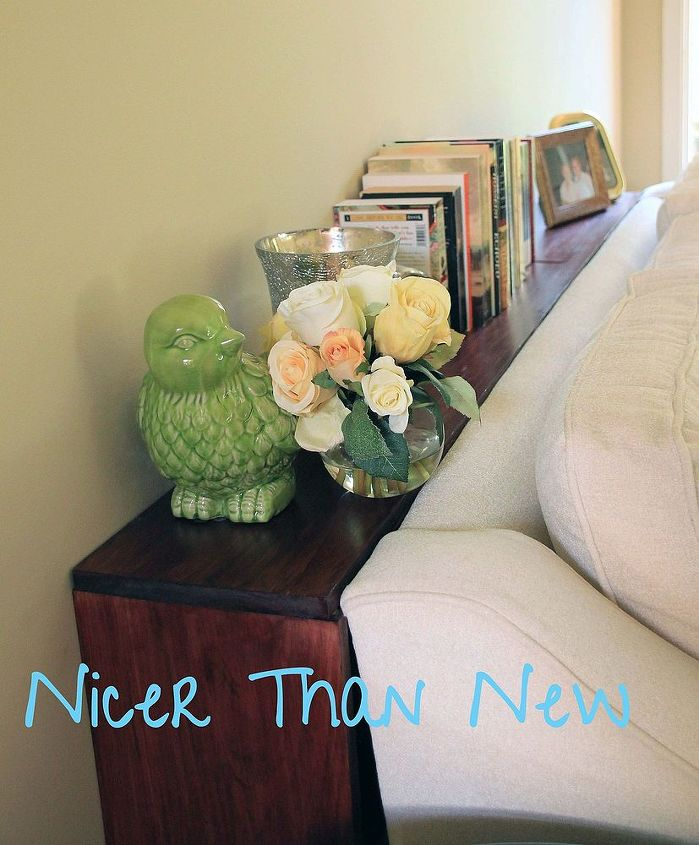 faux sofa table, home decor, living room ideas, painted furniture, woodworking projects