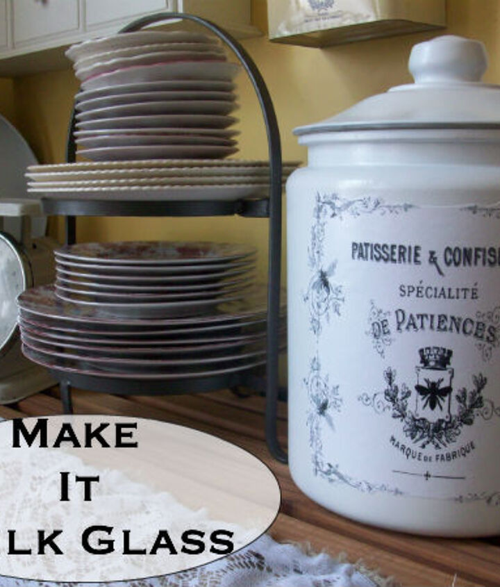 make it milk glass, crafts