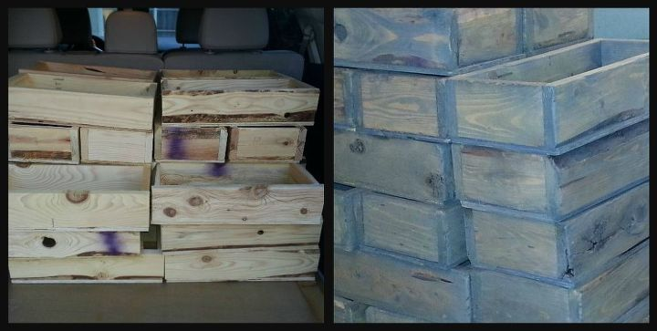 faux aged wooden boxes, painting, woodworking projects