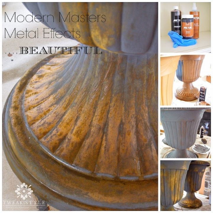 Creating A Rust Patina On Plastic Urns Modern Masters