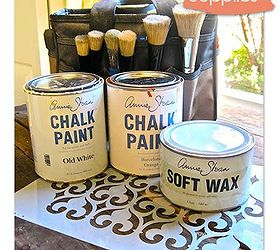 How To Stencil Wood Furniture With Chalk Paint Decorative Paint, Painted  Furniture, Annie Sloan