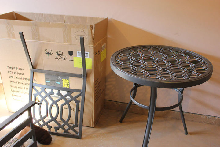 Ideal Small Front Porch Transformed With a Patio Bistro Set From Target  OW52