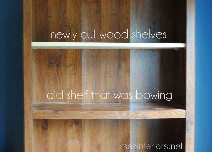 Updating the bowing shelves