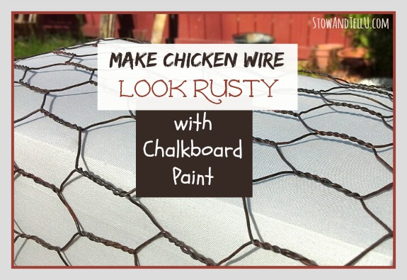 Get an Aged Look on Chicken Wire With Chalkboard Paint | Hometalk