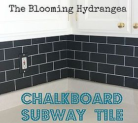 Chalkboard Subway Tile Backsplash For Less Than 20, Chalkboard Paint, Kitchen  Backsplash, Kitchen