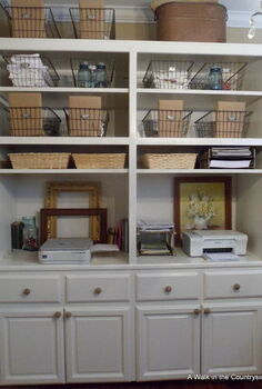 repurposed cabinets for the office craft space, home decor, kitchen cabinets, repurposing upcycling, New office storage