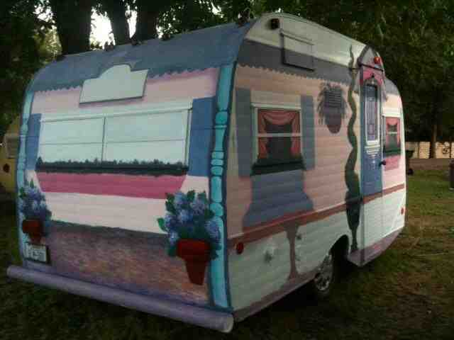 happy camper i painted, curb appeal, diy, painting, In progress