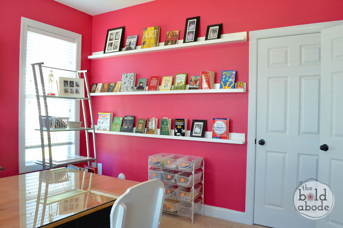 Building Gallery Shelves not only displays useful books, but is a beautiful focal point.