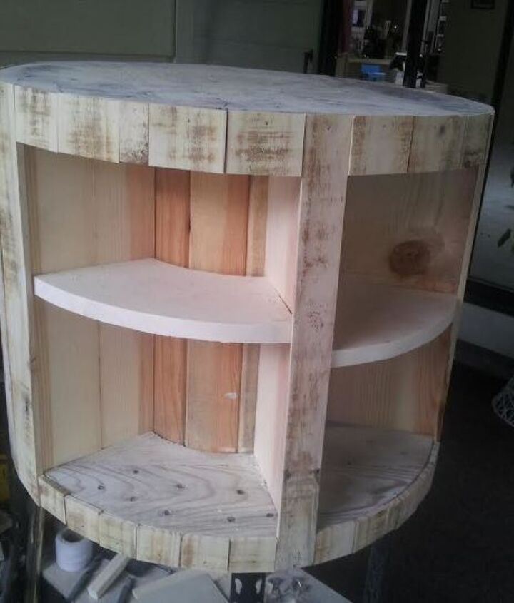 refurbished wire spool, diy, repurposing upcycling, woodworking projects