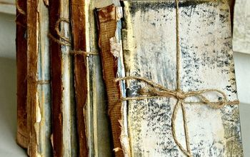 Upcycled Trashed Books to Look Like Antique Treasures