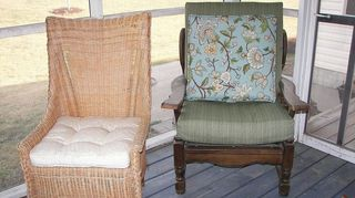 q furniture for 3 season porch in new england, painted furniture