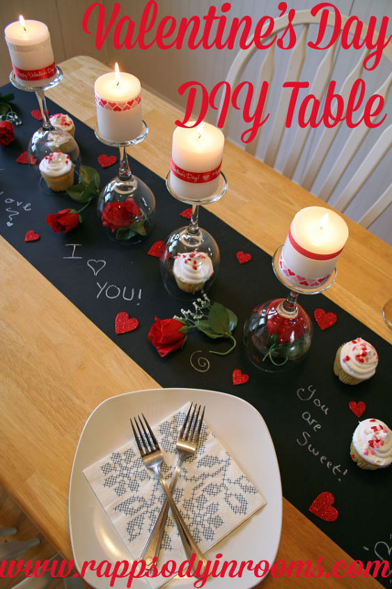 diy valentine s day table painted furniture seasonal holiday decor valentines day ideas