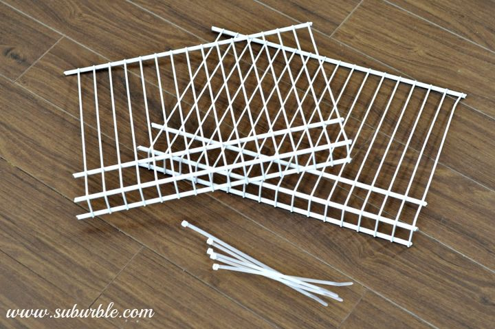 this hack will keep your linen closet organized for good, closet, shelving ideas, Start with cutting a length of wire shelving available at any Home Improvement store into lengths that match your current wire shelving ours were 16 Grab your trusty zap straps and get ready to install