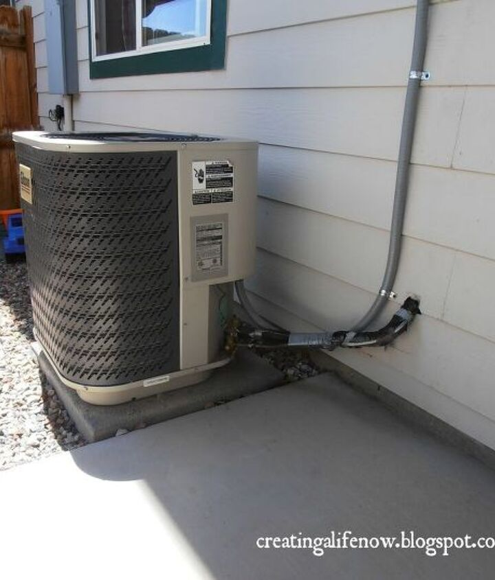On our small patio area, this a/c unit was a huge eyesore.