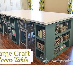 large craft table diy painted furniture woodworking projects & Large Craft Table | Hometalk
