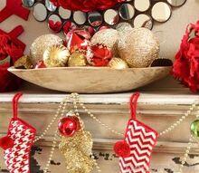 christmas decorating and christmas mantel, seasonal holiday d cor, Festive Christmas Mantel Peek