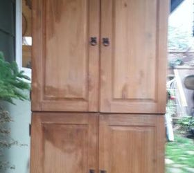 Old Pine To Copper, Painted Furniture, An Old And Abused Pine Caabinet