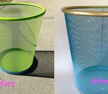 ombre trash can, crafts, repurposing upcycling
