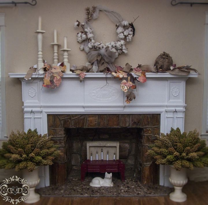 These milo topiaries are super easy to make...and look stunning next to the fireplace.