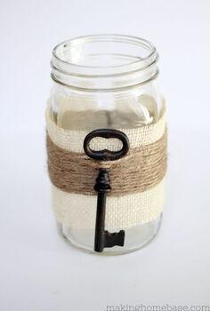 glimpse of spring embellished mason jar vase, crafts, flowers, mason jars, seasonal holiday decor