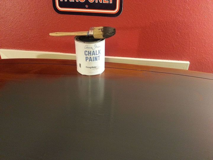Used Charcoal chalk paint