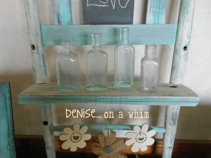 chalkboard shelf from a broken chair, diy, painted furniture, repurposing upcycling, shelving ideas