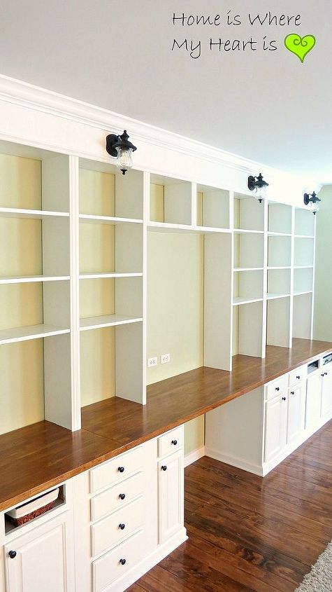 diy built in bookcases, diy, shelving ideas, woodworking projects, The finished bookcase