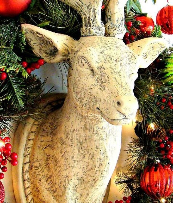 """The moment I """"met"""" Buck, I knew that he had to be a guest of our holiday mantel this year!"""