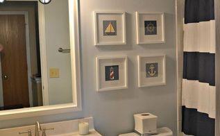 bathroom makeover, bathroom ideas, home decor, Nautical Bathroom Makeover