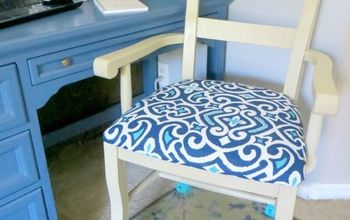 Turn an Ordinary Dining Chair Into a Desk Chair With Casters!
