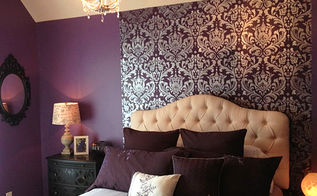 positively purple patterns, bedroom ideas, home decor, painting, wall decor