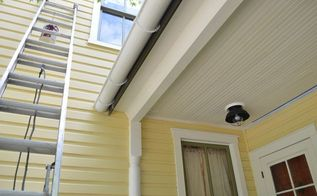 jacking up a porch roof replacing flashing installing a gutter, curb appeal, porches, roofing