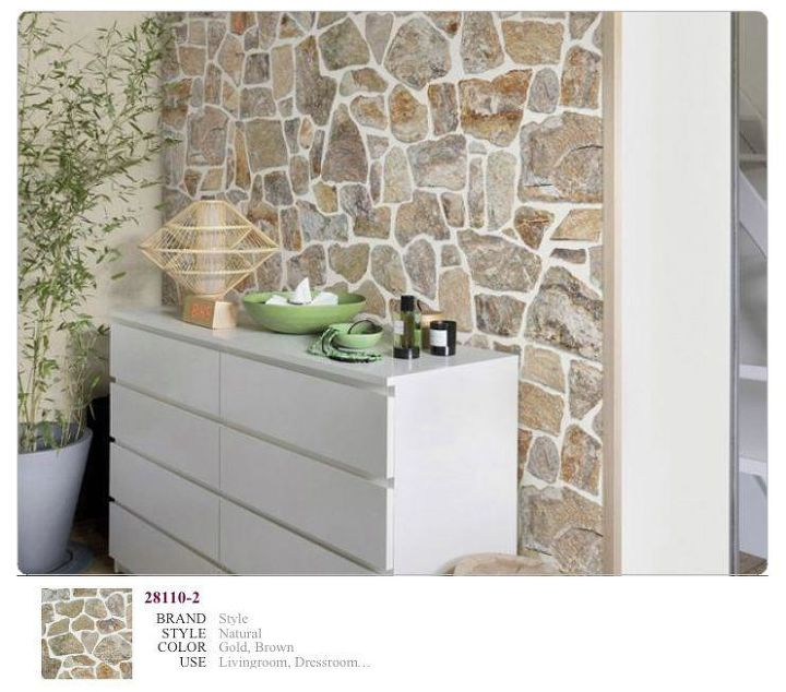 the stone effect wallpaper, painting, products, wall decor, Emilda Wpa The stone effect wallpaper